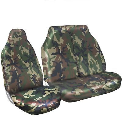 Renault Master Van 2010 On Seat Covers Camouflage Dpm Camo Green Heavy Duty 2-1