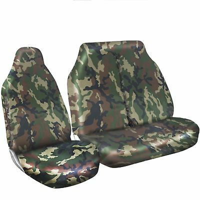 Renault Trafic 2017 Van Seat Covers Camouflage Dpm Camo Green Heavy Duty 2-1