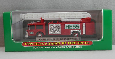 Hess Miniature Vehicle - 1999 Hess Fire Truck - New in Box