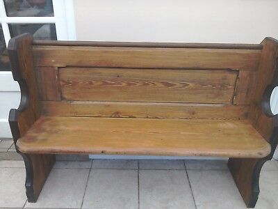 Church pew pitch pine very heavy lovely item