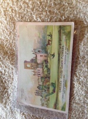 advertising victorian/edwardian post card leeds