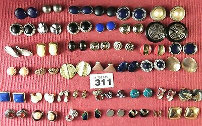 job lot 43 pairs clip on earrings no:w311
