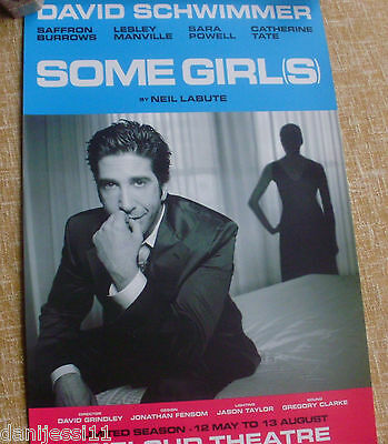 SOME GIRLS (STAGE) stage play, 2005, Gielgud Theatre,David Schwimmer,Neil Labute