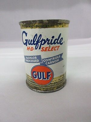Vintage Gulfpride Gulf  Gas Oil  Promo Bank   Tin Advertising Collectible M-917