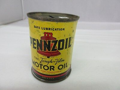 Vintage Pennzoil  Gas Oil  Promo Bank   Tin Advertising Collectible    M-918