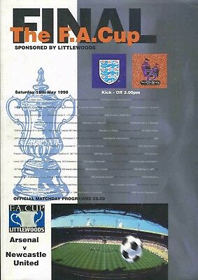 Football Programme - Arsenal v Newcastle United - FA Cup FINAL - 16/5/1998