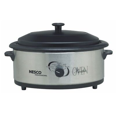 NEW The Metal Ware 4816-25PR Electric Roaster Oven Nesco 6qt SS 481625PR