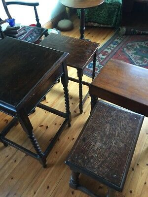 Selection Of Old Oak Small Tables