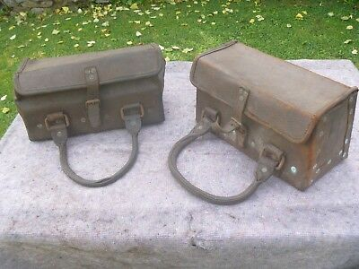 19th CENTURY BRITISH WAR DEPARTMENT LEATHER SATCHELS/CASES??