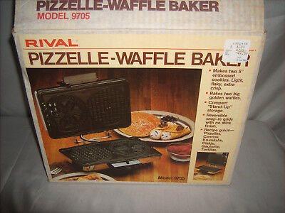 Vintage Rival Pizzelle Waffle Baker Model 9705 with Original Box