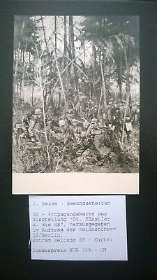 Extremely rare - 1941 SS propaganda card with Wehrmacht soldiers