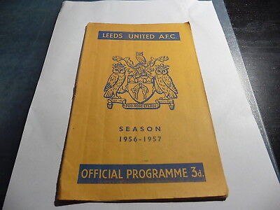1956 Leeds v Everton 1st game in 1st Division after 9 years 18/08/56 -1956-57