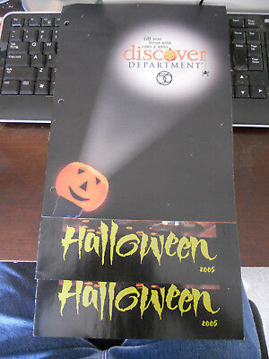 3- Dept 56 Quarterly Catalogs Brochures HALLOWEEN 2005 Issue - FREE SHIPPING