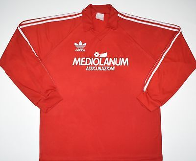 1990-1992 Ac Milan Adidas Football Training Top (Size Xl)