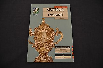 1991 Rugby World Cup Final Programme England v Australia Exc. Cond.