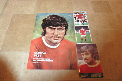1969 George Best Poster Picture Oil Painting +2 Postcards Manchester United