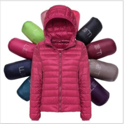 UNIQLO'S Factory Sale Women's Ultralight Hooded Down Jacket Puffer Parka hot*