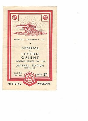 Arsenal Res v Leyton Orient Res 1947 - 1948   Combination Cup