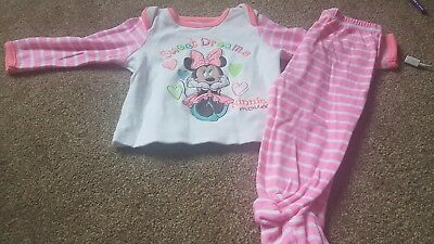 Minnie Mouse Pink Baby Girls Pyjamas Age 6-9 Months