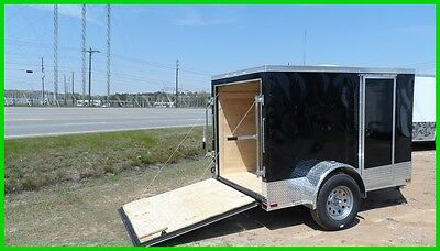 2017 Quest 5x8 v nose enclosed cargo motrcycle ready toy hauler trailer New