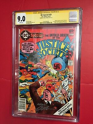 DC Special #29 CGC 9.0 Neal Adams Signature Series signed HITLER Justice Society