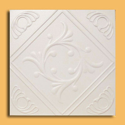 Extruded styrofoam European Ceiling Tile 20x20 ANET Antique White Painted