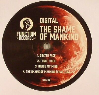 """DIGITAL - The Shame Of Mankind EP - Vinyl (12"""") Function. Drum And Bass"""