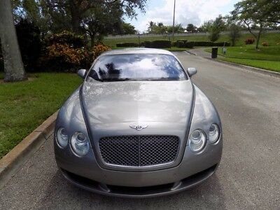 2005 Bentley Continental GT GT Coupe 2-Door 05 CONTINENTAL GT CLEAN CARFAX $161K MSRP NAVIGATION SILVER TEMPEST XENON FL