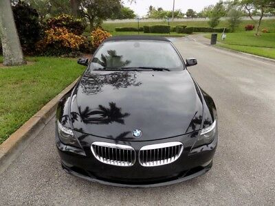 2008 BMW 6-Series Base Convertible 2-Door 08 650I CONVERTIBLE CLEAN CARFAX NAVIGATION KEYLESS START FL