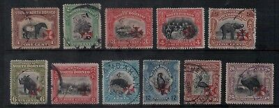 ☀North Borneo 1916 Red Cross ovpt values to 24c fine used