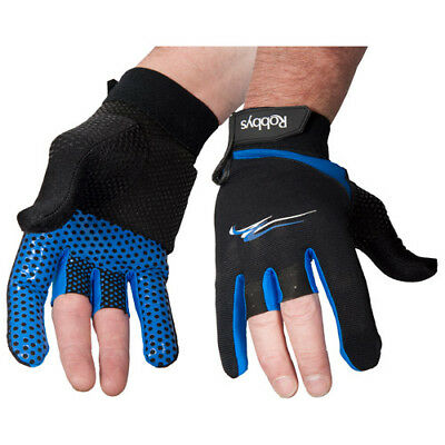 Robby's (Right Handed) Bowling Thumb Saver Glove Black/Blue - New - Free Ship!!