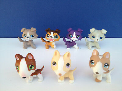 LOT LPS Littlest pet shop dogs chiens colley bull terrier collie