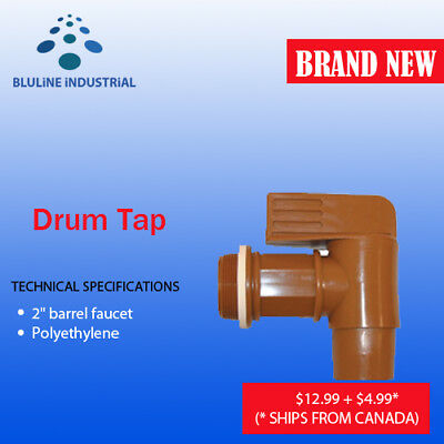 "Action Drum Pump Tap Drum 2""PE Polyethylene - SHIPS FROM CANADA"