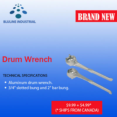 "Drum Wrench Aluminium ¾ "" slotted bung and 2"" bar bung – SHIPS FROM CANADA"