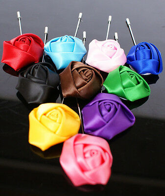 Muslim Islamic Scarf Hijab Small pins Satin Big Rose  Headwear size 30*90 mm New