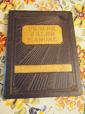 Pittsburgh Plate Glass- Dealer Sales manual for Paints   HC 1936  WOW!  RARE