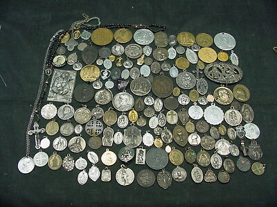vintage and antique Lot of 150 + Mixed Religious Charms/Medals