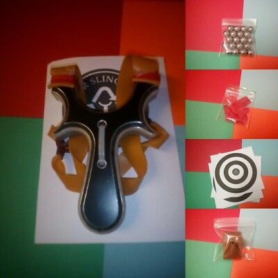 slingshot catapult theraband gold tapered ball bearing targets majorslingshots