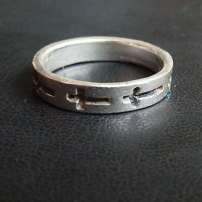 Sterling Silver Hand Made Cross Ring 3.0g Size R