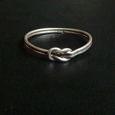 925 Sterling Silver Knotted Ring Size S 1g