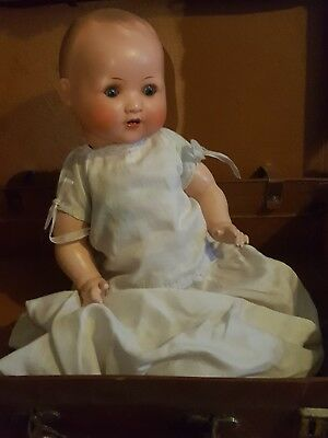 vintage doll august Steiner thuringia 1920s .old doll vintage look lovely.