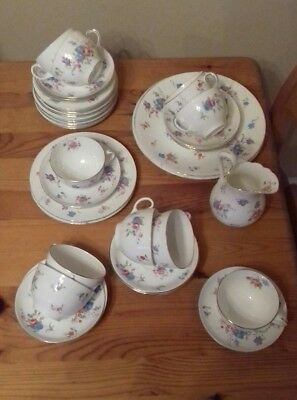 vintage Hammersley & Co (longton, stoke on trent) tea service - 41 pieces