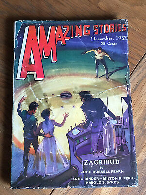 Amazing Stories - December 1937 - US SF pulp - John Russell Fearn etc.