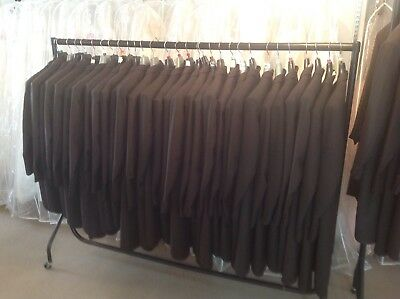 JOB LOT MENS/ BOYS BROWN HERRINGBONE TAILCOATS ,SUIT JACKETS ,TROUSERS,W/coats