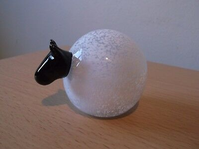 Scottish Borders Art Glass Sheep Paperweight/Ornament