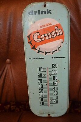 Orange Crush Thermometer -- Advertising Sign ! -- Nice!