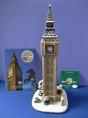 A Lilliput Lane Big Ben in Winter(L2300) Boxed but no  Deeds (Millenium Piece)