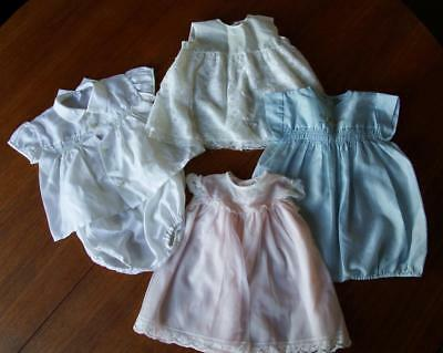 Small Bundle 1950/60's Baby Clothes - 2 Boys + 2 Dresses      Vbc/6