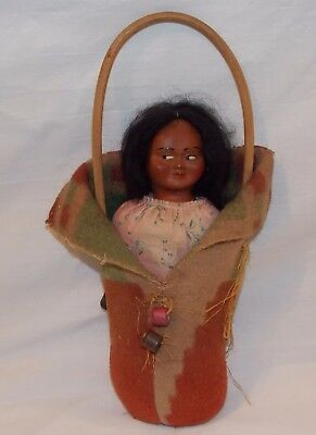 Skookum Papoose Doll w Straw-Filled Body Ca 1935 Vintage