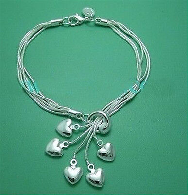 Fashion Jewelry Solid 925 Silver Bracelet Bangle with small bell